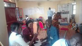 Group work at Alternatives to Violence Workshop in November 2016 at ONAD training hall