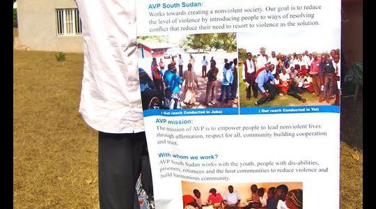 Luka Deng, AVP South Sudan Coordinator at the Regional AVP Africa Gathering in Kigali in August 2016